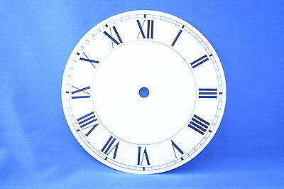 White Clock Face Or Dial 152Mm Diameter With Roman Numerals In Black Cd6W