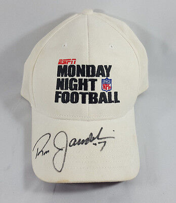 Ron Jawarski Signed Hat Autographed Auto Monday Night Football Eagles