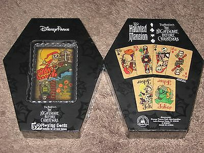 NIGHTMARE BEFORE CHRISTMAS Haunted Mansion Playing Card Deck of 52 ~Coffin Box