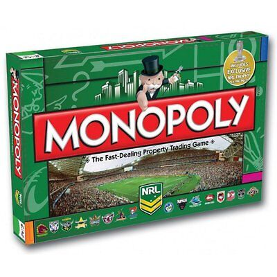 The NRL Monopoly Rugby League Football edition Board Games Family Party Game