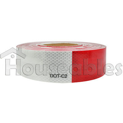 """2""""x150' 3M Red/White Reflective Safety Warning Conspicuity Tape Sticker Roll"""