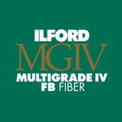 "Ilford Multigrade MGIV FB Black & White Paper 9.5 x 12"" Glossy 10 Sheets 1833517"