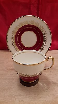 Salisbury Crown China Footed Cup and Saucer - Vintage Porcelain