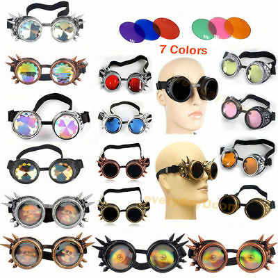NEW Vintage Victorian Steampunk Goggle Glasses Welding Cyber Punk Gothic Cosplay