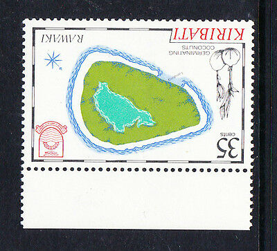 KIRIBATI 1985 35c MAPS WITH 'POST OFFICE' WMK READING DOWNWARDS SG 238w MNH.