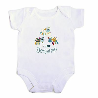Cotton Zoo Babys White Vest 0-3 Months Old Baby Gift Boys Farmyard