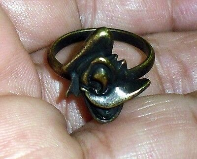 1950S/60S  Vintage Adjustable Donald Duck Brass/bronze Ring Must See!!