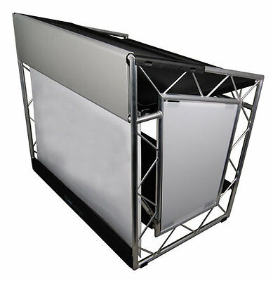 LiteConsole XPRS Aluminium Foldable Mobile DJ Stand Booth Workstation Disco