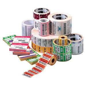 "Zebra Label Paper 4 X 2In Direct Thermal Zebra Z-Select 4000D 1 In Core - 4"" Wid"