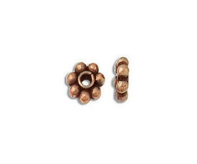 6mm Genuine Antiqued Copper Bali Style Daisy Spacers Beads (10)
