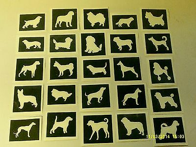 10 - 400 dog stencils (mixed) for etching on glass bulldog collie boxer yorkie