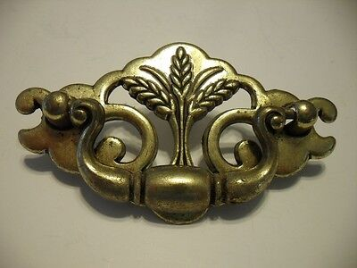 Vintage Brass Bail Style Dresser Drawer Pulls Chippendale Federal WHEAT Pattern