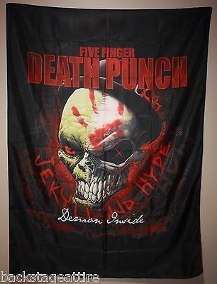 FFDP Five Finger Death Punch Demon Inside Cloth Fabric Poster Flag Tapestry-New!