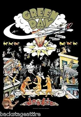 Green Day Dookie CD Cover Logo Billy Joe Armstrong Cloth Fabric Poster Flag-New!