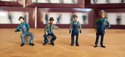 On30 On3 O Scale Figures - Set 1 - RailRoadAve Models - Painted Ready To Go.