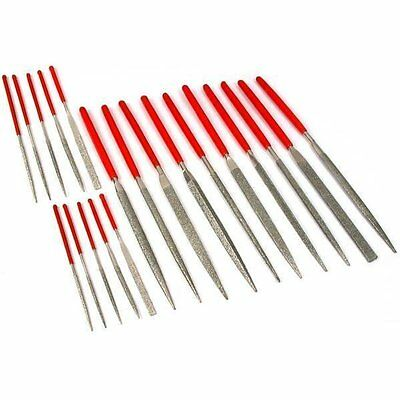New Combo 10pc Mini Diamond Needle File Set + 10pc 3mm Diamond Needle File Set