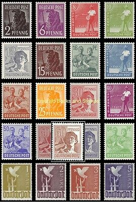 EBS Germany 1947 Allied Occupation Peaceful Occupations set MNH Michel 943-962**