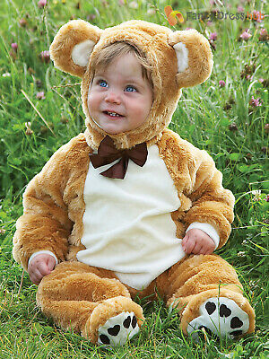 Baby Toddler Deluxe Teddy Bear Costume Girl Boy Animal Fancy Dress Jumpsuit Kids