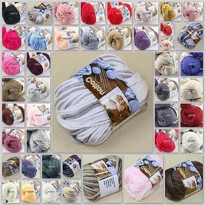 Sale New 1 BallX50g Special Thick Chunky 100% Cotton HAND Knitting Yarn Colorful