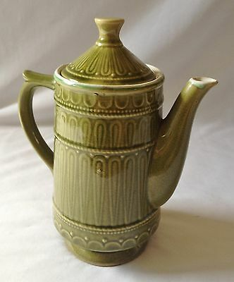 Vintage C1970's 4 Cup Green Porcelain Stovetop Coffee Pot - Made In Japan