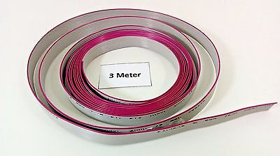 10Ft / 3m Flat Ribbon Cable Pitch 9 Pin 9 Wire AWG 28 300V 105 C VW-1 Wide 12mm