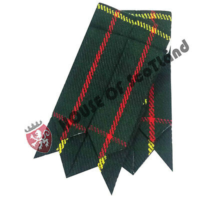 Men's Kilt Hose Sock Flashes Hunting Stewart Tartan/ Kilt Hose Socks Flashes