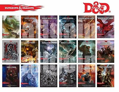 Dungeons & Dragons FIFTH 5th EDITION QUINTA 5^ EDIZIONE MANUALI AVVENTURE D&D