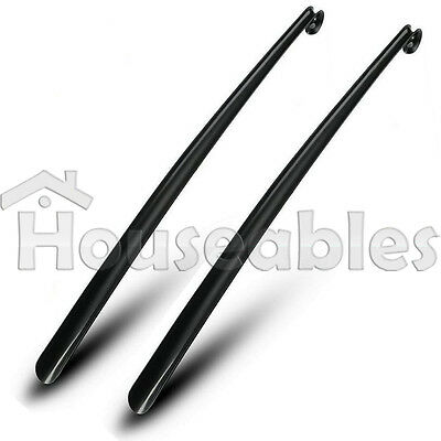 "31.5"" Professional Plastic Long Handle Shoe Horn 2PC Lifter Shoehorn Shoespooner"