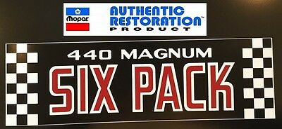 1970 1971 DODGE MODELS 440 SIX PACK AIR CLEANER DECAL Mopar NEW