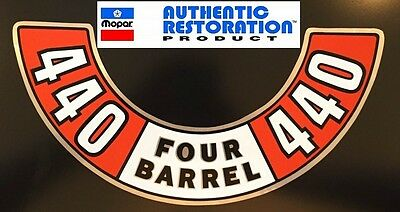 1972 1972 1974 Dodge Charger Challenger 440 4 Barrel Air Cleaner Decal