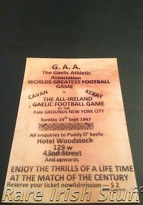 Cavan V Kerry, Woodstock, New York City 1947 - GAA Gaelic Football OKeefe Print