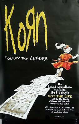 KORN-FOLLOW THE LEADER Original Giant Promo Poster 40x60inch. FREE INT. SHIPPING