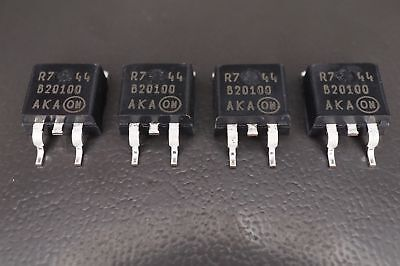Lot of 2 MBRB20100CT On Semiconductor Schottky Barrier Rectifier 20A 100V NOS