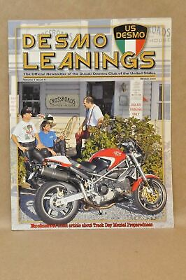 2004 US Desmo Leanings Ducati Owners Club News Letter Magazine Paul Smart 1000