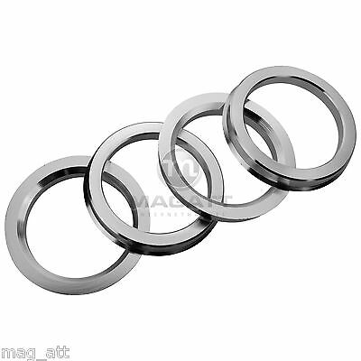 4 Bagues De Centrage Aluminium 73,1 - 57,1 VW Audi Seat Golf Skoda Barracuda