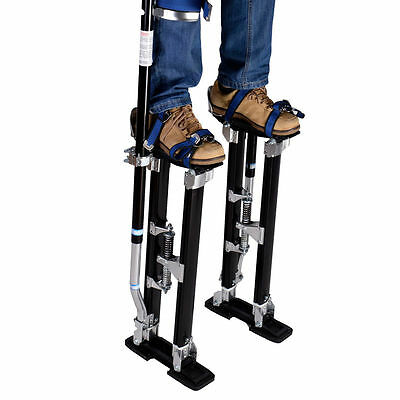 "Adjustable 24-40"" Light Aluminum Alloy Ergonomic Drywall Painting Stilts Stands"