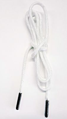 """Replacement Drawstring White Paracord Lace 50"""" for Hoodies Sweatpants Bags Packs"""