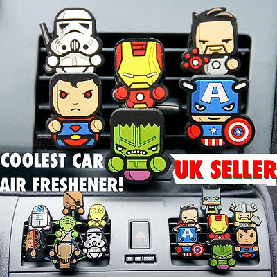 2x Marvel Avenger, Deadpool,Game Of Throne,Star Wars Car Air Freshener fragrance