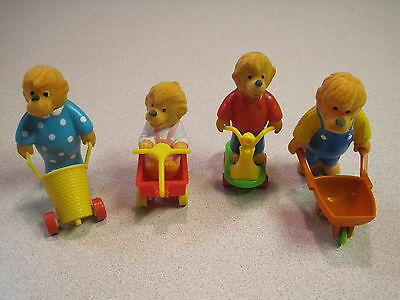McDonalds 1987 Berenstain Bears Happy Meal, Complete Set of 4  - Loose
