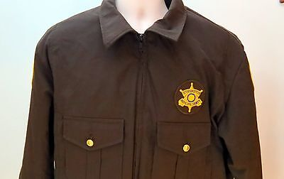 Vintage Genuine MCSO Maricopa County Sheriff's Detention Officer Brown Jacket