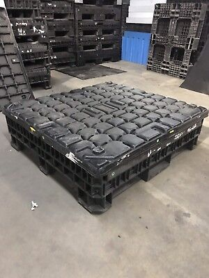 Pallet Box With Lid Jobox Job Box Lockable Trade Show Container Collapsible Lock