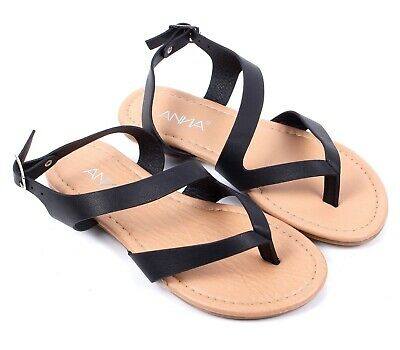 992dab7ec Black Summer New Cute Slip-On Kids Flats Girls Youth Sandals Shoes Size 9-