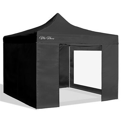 Carpa plegable jardín 3x3 color negro Mchaus carpa para eventos fiestas 3x3