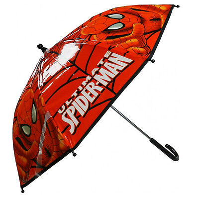 Marvel Ultimate Spiderman Bubble Umbrella Childrens Boys Brolly Rain School New