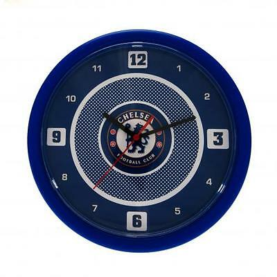 Official Licensed Football Product Chelsea Wall Clock Bullseye Design Crest New