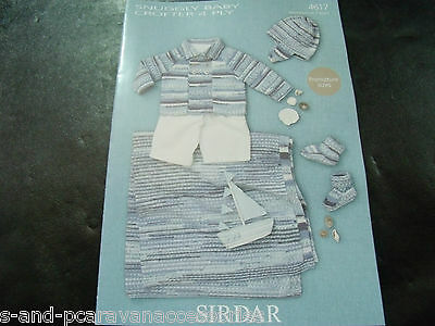 Sirdar Snuggly Baby Crofter 4 Ply Pattern 4617 Premature - 2 Years