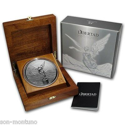 2015 Mexican Libertad Silver Proof-Like Kilo Coin With Certificate And Box