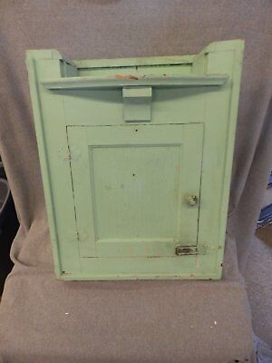 Vtg Shabby Cottage  Chic Medicine Cabinet Shelf Cupboard Old Bathroom 255-16