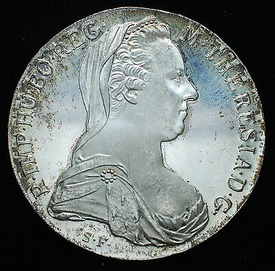 1780 Austria Maria Theresia Silver Thaler Proof Mint  Wien