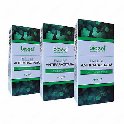 3 x Scabies Treatment Antiparasitic Lotion for Scabies Mite, 25% Benzyl Benzoate
